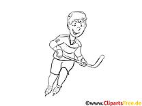 Patins à glace clipart gratuit – Hockey à colorier
