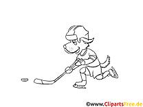 Sport d'hiver clip arts – Hockey à imprimer