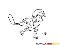 Sport d'hiver image – Hockey images à colorier