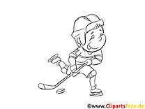 Sport d'hiver images – Hockey gratuits à imprimer