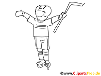 Vainqueur dessin – Coloriage hockey à télécharger