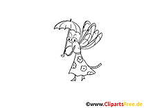 Clip art gratuit insects à colorier