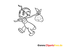 Fourmi clipart – Insects dessins à colorier