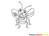 Mouche dessins gratuits – Insects à colorier
