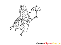 Papillon clip art gratuit – Insects à imprimer