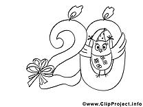 Invitations coloriages clipart images t l charger gratuit - Dessin anniversaire 20 ans ...
