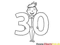 30 ans illustration – Invitations à imprimer