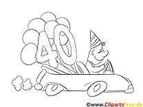 40 ans dessin gratuit – Invitations à colorier
