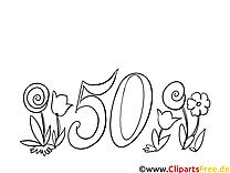 50 ans clip arts – Invitations à imprimer
