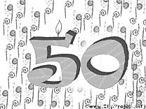 50 ans dessin – Invitations gratuits à imprimer
