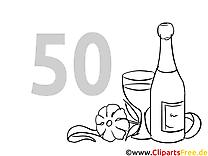 50 ans dessins gratuits – Invitations à colorier