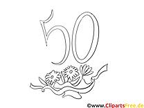 50 ans images gratuites – Invitations à colorier