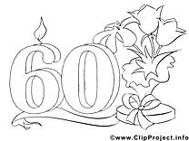 60 ans clipart gratuit – Invitations à colorier