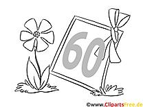 60 ans dessin – Invitations gratuits à imprimer