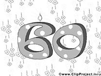 60 ans image – Invitations images à colorier