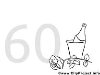 60 ans images gratuites – Invitations à colorier