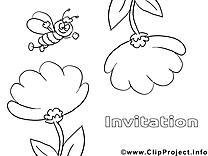 Abeille clip art – Invitations image à colorier