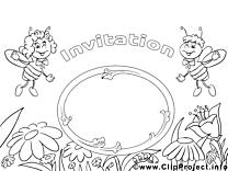Abeilles image gratuite – Invitations à colorier