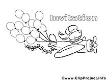 Avion cliparts gratuis – Invitations à imprimer