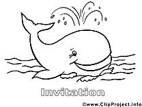 Baleine images – Invitations gratuits à imprimer