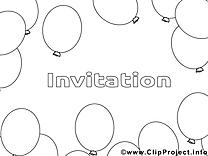 Ballons image – Invitations images à colorier