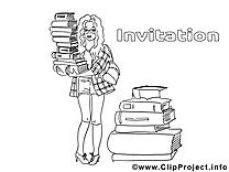 Bibliothèquaire cliparts gratuis – Invitations à imprimer