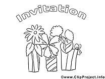 Cadeaux clipart gratuit – Invitations à colorier