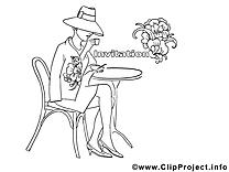 Café image gratuite – Invitations à colorier