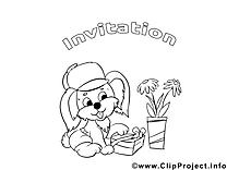 Chien illustration – Invitations à colorier