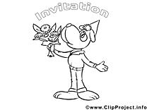 Chien images – Invitations gratuits à imprimer