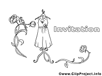 Coloriage vêtements invitations illustration à télécharger