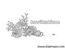 Coquilles images – Invitations gratuits à imprimer