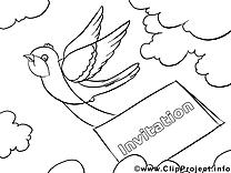 Courrier clip art gratuit – Invitations à imprimer