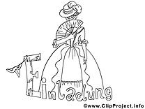 Dame clip arts – Invitations à imprimer
