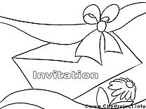 Enveloppe dessins gratuits – Invitations à colorier
