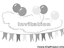 Fête image gratuite – Invitations à imprimer