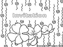 Fleurs dessin – Coloriage invitations à télécharger