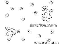 Fleurs image gratuite – Invitations à imprimer