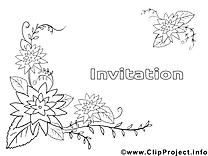 Fleurs images gratuites – Invitations à colorier