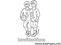 Football clip arts – Invitations à imprimer