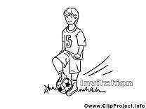 Footballeur clip art – Invitations image à colorier