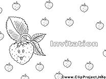 Fraises images – Invitations gratuit à imprimer