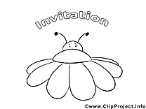 Insect image – Invitations images à colorier