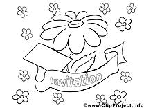 Invitations à colorier image à télécharger