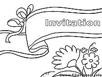 Invitations à imprimer clip arts