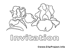 Invitations à imprimer cliparts gratuis