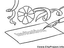 Lettre dessin – Coloriage invitations à télécharger
