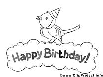 Oiseau dessins gratuits – Invitations à colorier