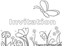 Papillon image gratuite – Invitations à colorier