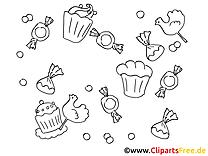 Pâtisserie image – Invitations images à colorier